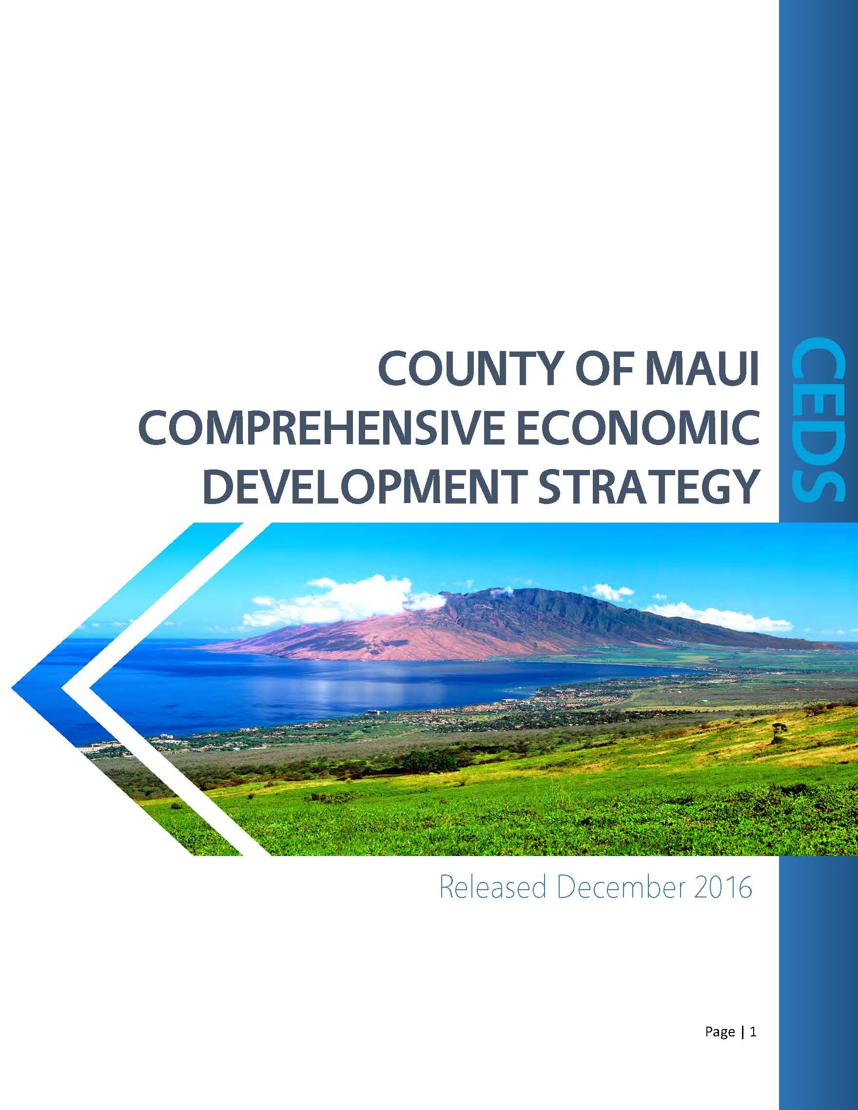 CEDS Economic Development Strategy
